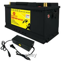 12V 100Ah LiFePO4 Battery Lithium Iron For Golf Cart Off Grid Trolling Motor RV