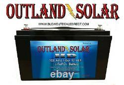 12 Volt Lithium Lifepo4 100ah Heavyduty Battery Solar Rv Boat Offgrid Golf Cart