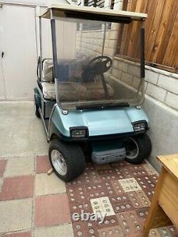 1992 Club Car DS Golf Cart 36v 4 seat, canopy, lights, Trojan Batteries, Charger