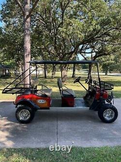2008 4X4 BAD BOY BUGGIE UT TEXAS EDITION WINCH Golf Cart 6 SEAT NEW BATTERIES