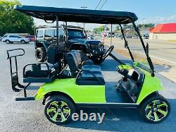 2022 Evolution Classic 4 Pro Golf Cart With 48v110ah Lithium Battery