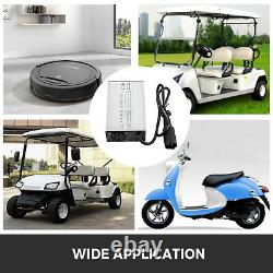 36V 18A Golf Cart Battery Charger 3 Pin Round Plug For Club Car Ez GO Yamaha