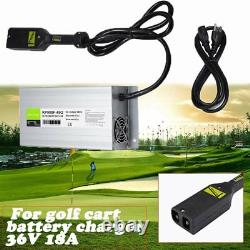 36V 18A Golf Cart Battery Charger AC Power Cord Fit for Ez-Go ClubCar Yamaha