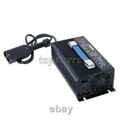 36V 18A Golf Cart Battery Charger Input 220V + Powerwise Cable D Style for EZ-GO