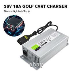 36V 18A Golf Cart Battery Charger Powerwise Power Cord For Ez Go Club Car Ezgo