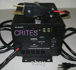 36 Volt 20 AMP Golf Car Cart Battery Charger With Crowfoot Connector, New