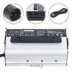 48V 15A Battery Charger 3 Pin Plug Fits For Club Car Golf Cart 48 Volt 15 AMP US
