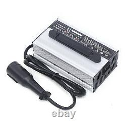 48V 15 AMP For Club Car Golf Cart 48 Volt Round 3 Pin Plug Battery Charger US