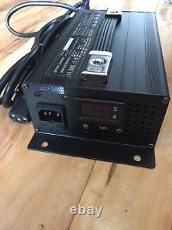 48V 15 Amp Golf Cart Battery Charger Club Car 3 Pin Connector, 48 Volt LEDEZ GO