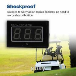48V Golf Cart Digital Voltage Meter Battery Volt Gauge for Club Car EZGO Yamaha