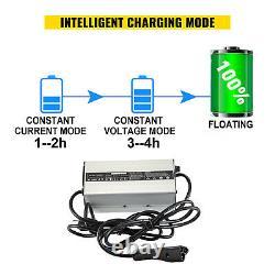 48V RXV Golf Cart Battery Charger 48 Volt Ez-Go Triple Charge w Volt Display