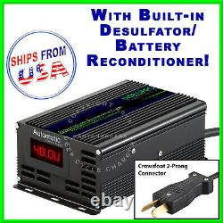 48V Tomberlin withCrowsFoot Golf Cart Battery Charger Desulfator Reconditioner
