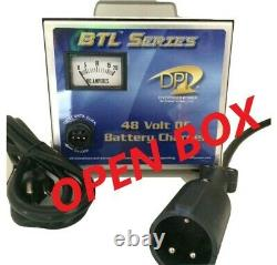 48 Volt Golf Cart Battery Charger-Open Box-15 Amp Club Car 3 Pin Round Connector