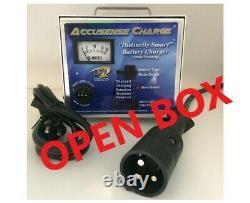 48 Volt Golf Cart Battery Charger Star Car Black 3 Pin Connector-OPEN BOX