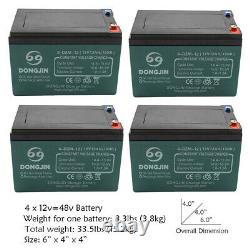 6-DZM-12 12V 12Ah Battery 4 Pack for ATV Scooter Go Kart Golf Cart Motorcycle