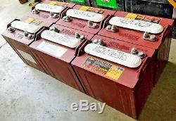 6 Pack Trojan T-875 Deep Cycle Battery For Golf Cart, Solar, Marine 8 Volt 8V