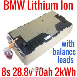 BMW OEM 8s 28.8v 70ah 2kWh with LEADS EV LITHIUM ION SAMSUNG POWERWALL GOLF CART