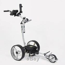 Bat Caddy X4 Classic Manual Electric Golf Bag Cart Silver-12V 35/36Ah Battery