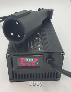 Club Car Golf Cart SMART Battery Charger 48 volt 5 Amp Round 3 Pin Plug