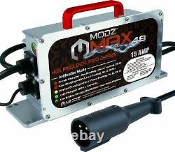 Club Car MAX48 Golf Cart 48 Volt 15 Amp Battery Charger-3 Pin Round