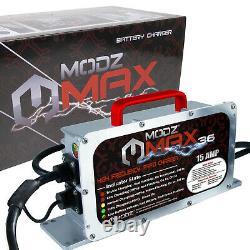 Club Car MODZ MAX Golf Cart-36V 15A Battery Charger-Crowfoot Handle