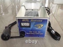 DPI 48v Club Car DS Golf Cart Battery Charger 48 volt 17 Amp Round 3 Pin Plug