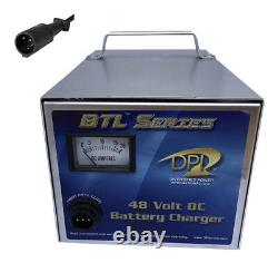 DPI ClubCar Powerdrive/IQ Golf Cart-48 Volt 15 Amp Battery Charger-3 pin round