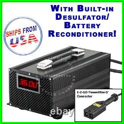 EZGO 36V 20A Powerwise TXT D Golf Cart Battery Charger Desulfator Reconditioner