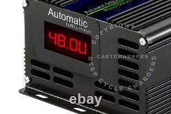 EZGO 48 Volt EZ GO RXV Golf Cart Battery Charger Desulfator Reconditioner withLED