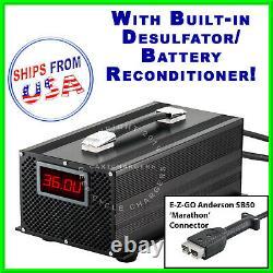 EZGO Marathon 36V 20A EZ-GO Golf Cart Battery Charger Desulfator Reconditioner