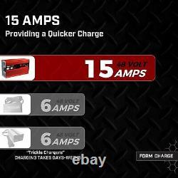 EZGO RXV & TXT Battery 15 AMP Portable Smart Rapid Charger for 48 Volt Golf Cart