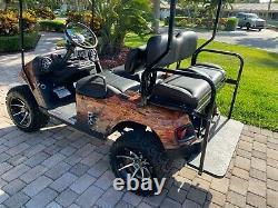 Ez-go Electric 4 Seater & Flatbed Golf Cart New Batteries Custom Billet