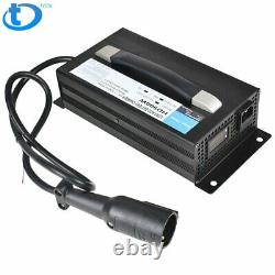 For Club Car Battery Charger 48V 15 AMP Golf Cart 48 Volt Round 3 Pin Plug