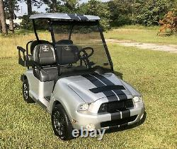 Ford Mustang SHELBY GT500 Ezgo Rxv Golf Cart 48 Volts Brand New Batteries