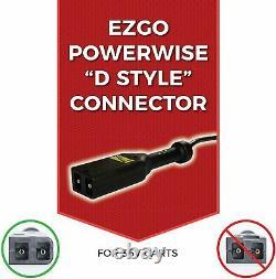 Form 18 AMP EZGO TXT Golf Cart Battery Charger for 36 Volt -D style plug