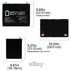 Mighty Max 12V 75AH Replacement Battery For Solar Golf Cart RV