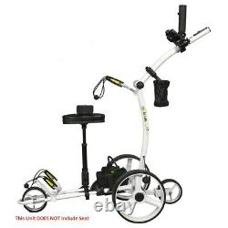 NEW Bat Caddy X4R Electric Golf Bag Cart White with 12V 35Ah Battery & Remote