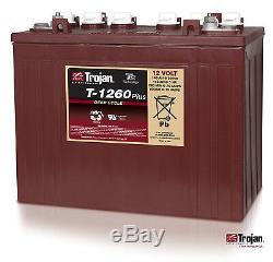 NEW Trojan T-1260 12V 12 Volt Golf Cart Battery RV marine solar deep cycle