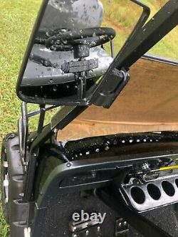 New 6 Seat Golf Cart AC Motor Lithium Battery Loaded with Options Black/Gry