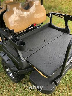 New 6 Seat Golf Cart AC Motor Lithium Battery Loaded with Options Black/Tan