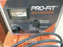 PRO-FIT 48volt 17/14 AMP Battery Charger Golf Cart Model 1-48217-04