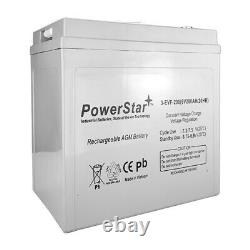 PowerStar 6V 6 Volt Golf Cart Battery RV marine solar deep cycle GC2 T105