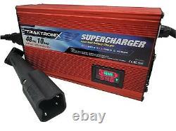 SUPERCHARGER YAHAMA G29 Golf Cart Battery Charger 48 volt 48v 3 Pin Plug