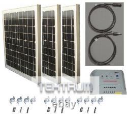Tektrum Universal 150 Watt 36v Solar Panel Battery Charger Kit for Golf Cart