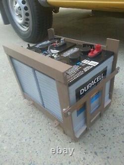 Under Vehicle Auxiliary Battery Box Dodge Sprinter T1N 158 Dual 6V Gel Golf Cart