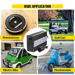 VEVOR 48V 15A Golf Cart Battery Charger Club Car Charger 3 Pin Round Plug / LED
