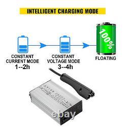 VEVOR 48V 15A Golf Cart Battery Charger Club Car Charger RXV Plug/LED for Ez Go