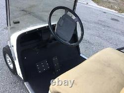 White Ezgo txt 4 passenger seat golf cart lights 36 volt fNEW BATTERIES