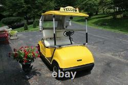 Yamaha 1990 G8E Classic Cab Style Electric Golf Cart New Batteries & New Motor