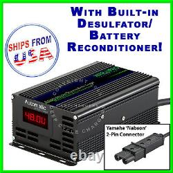 Yamaha 48 Volt G19 G22 Golf Cart Battery Charger withDesulfator Reconditioner